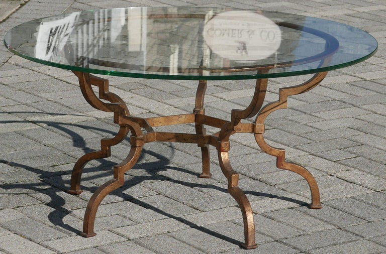 Vintage Sculptural Italian Gilt Iron Table For Sale 2