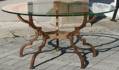 Vintage Sculptural Italian Gilt Iron Table