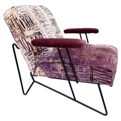 Vintage Sculptural Lounge Chair Designed by Dan Johnson for Pacific Iron Frame