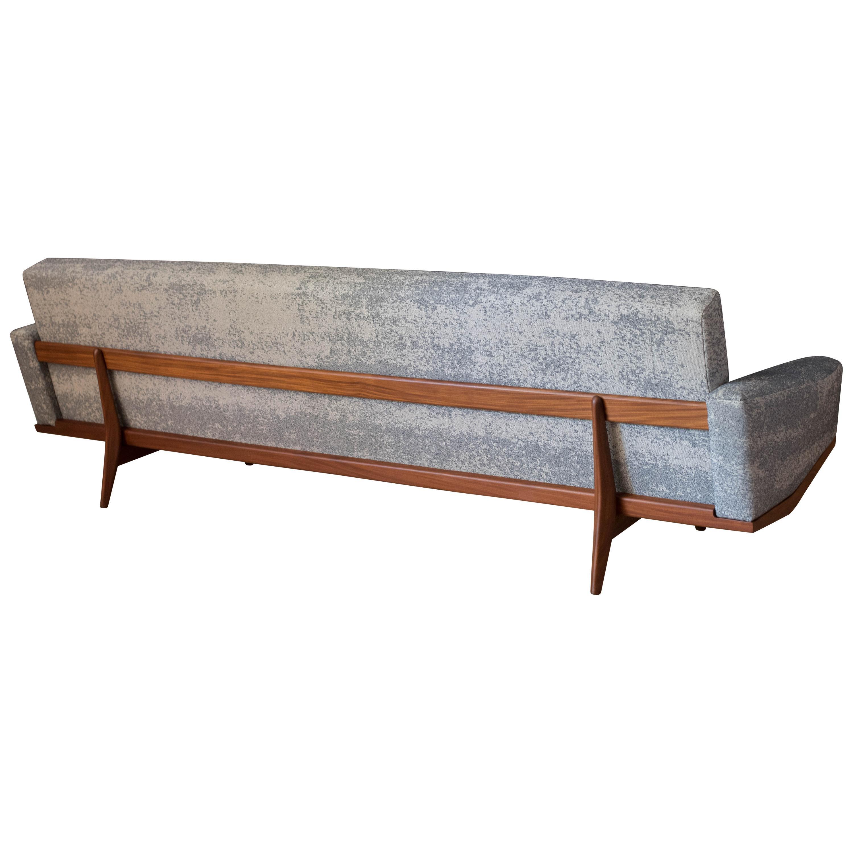 Vintage Sculptural Teak Bramin Sofa by H.W. Klein for NA Jorgensens Mobelfabrik