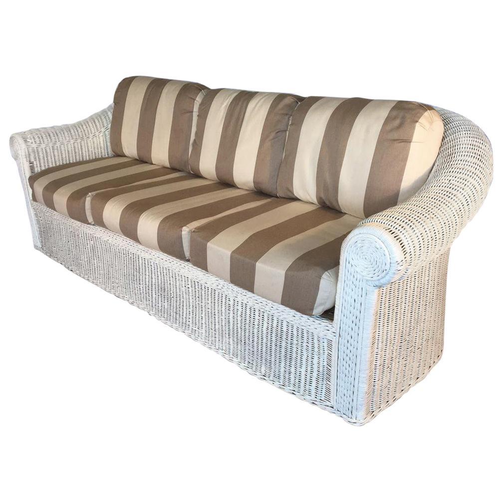 vintage sculptural white wicker sofa at 1stdibs rh 1stdibs com buy wicker sofa white wicker sofa bed
