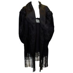 Vintage Sefridges  London Black Silk Cape