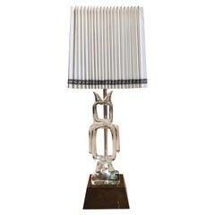 Vintage Seguso Murano Crystal Lamp