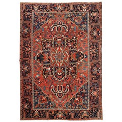 Vintage Semi-Antique Room Size Heriz Rug, circa 1920-1930
