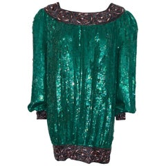 Vintage Sequin  Dress Circa 1980