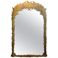 Vintage Serge Roche Style Palm Frond Mirror
