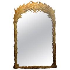 Vintage Serge Roche Style Palm Frond Mirror