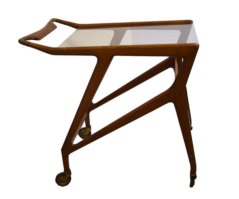 Italian Vintage Serving Cart by Angelo De Baggis and Ico Parisi 'Attributed', Italy For Sale