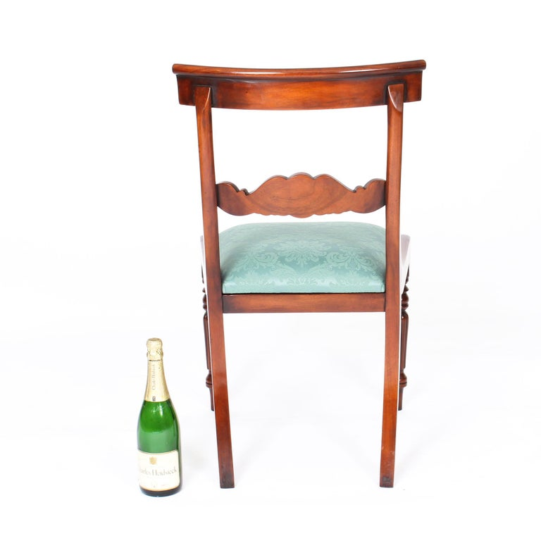 Vintage Set 14 Mahogany Regency Revival Bar Back Dining Chairs 20th C For Sale 7