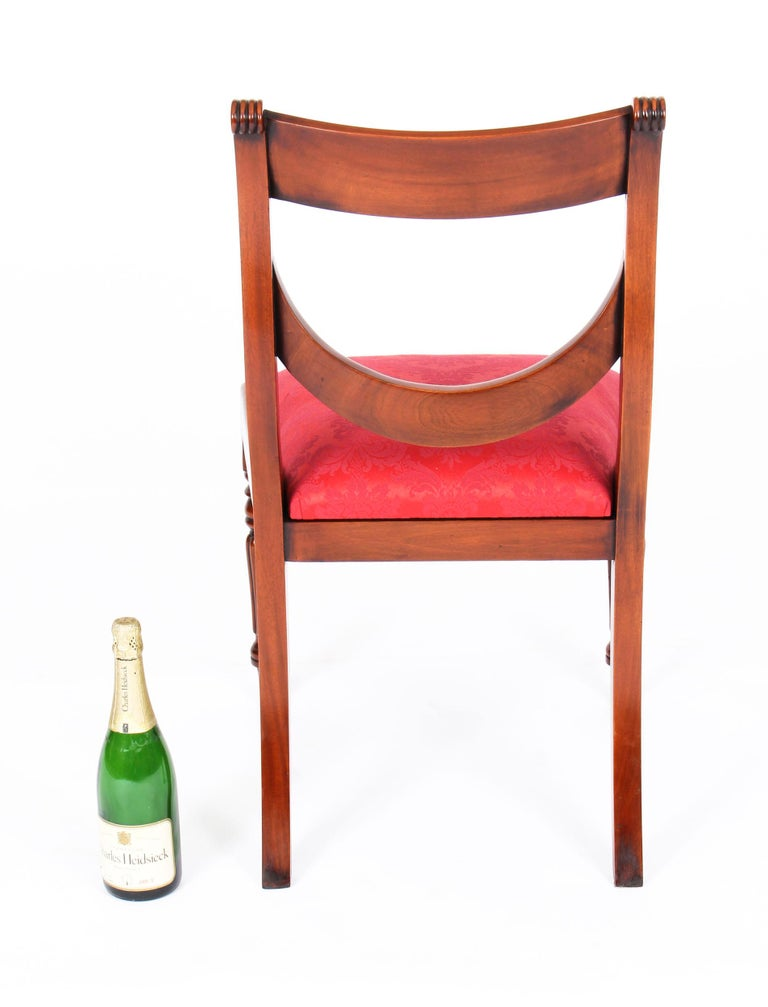 Vintage Set 14 Regency Revival Swag Back Dining Chairs, 20th Century For Sale 7
