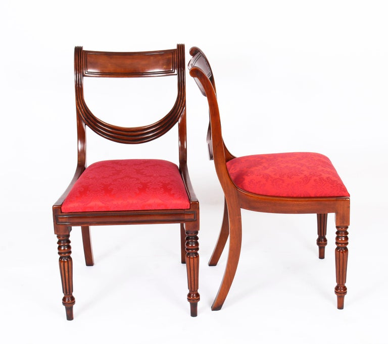 Vintage Set 14 Regency Revival Swag Back Dining Chairs, 20th Century For Sale 8