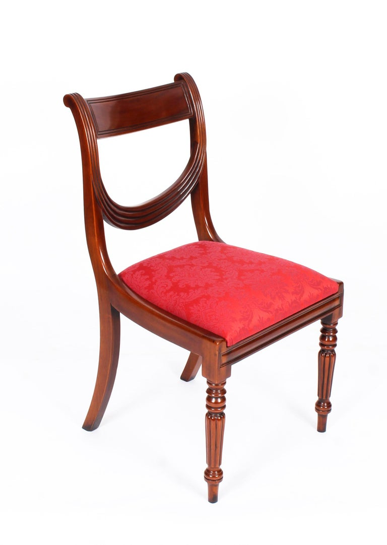 Vintage Set 14 Regency Revival Swag Back Dining Chairs, 20th Century For Sale 9