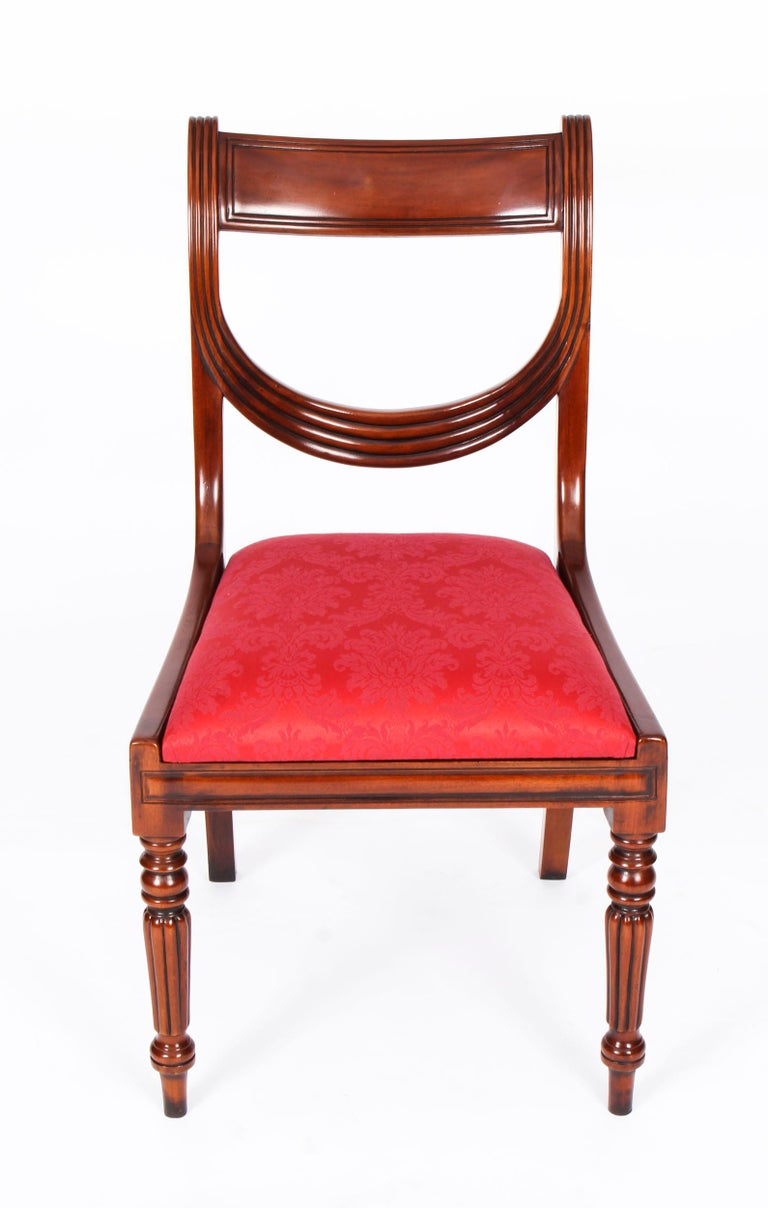 Vintage Set 14 Regency Revival Swag Back Dining Chairs, 20th Century For Sale 10