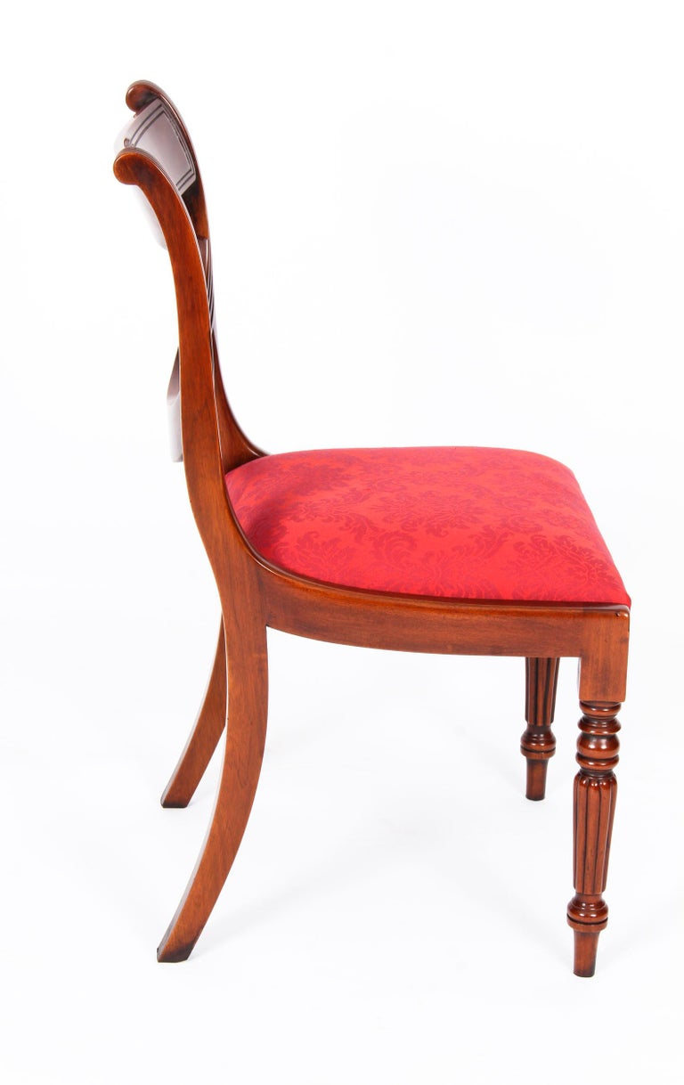 Vintage Set 14 Regency Revival Swag Back Dining Chairs, 20th Century For Sale 11
