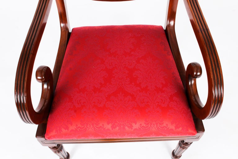 Vintage Set 14 Regency Revival Swag Back Dining Chairs, 20th Century For Sale 3