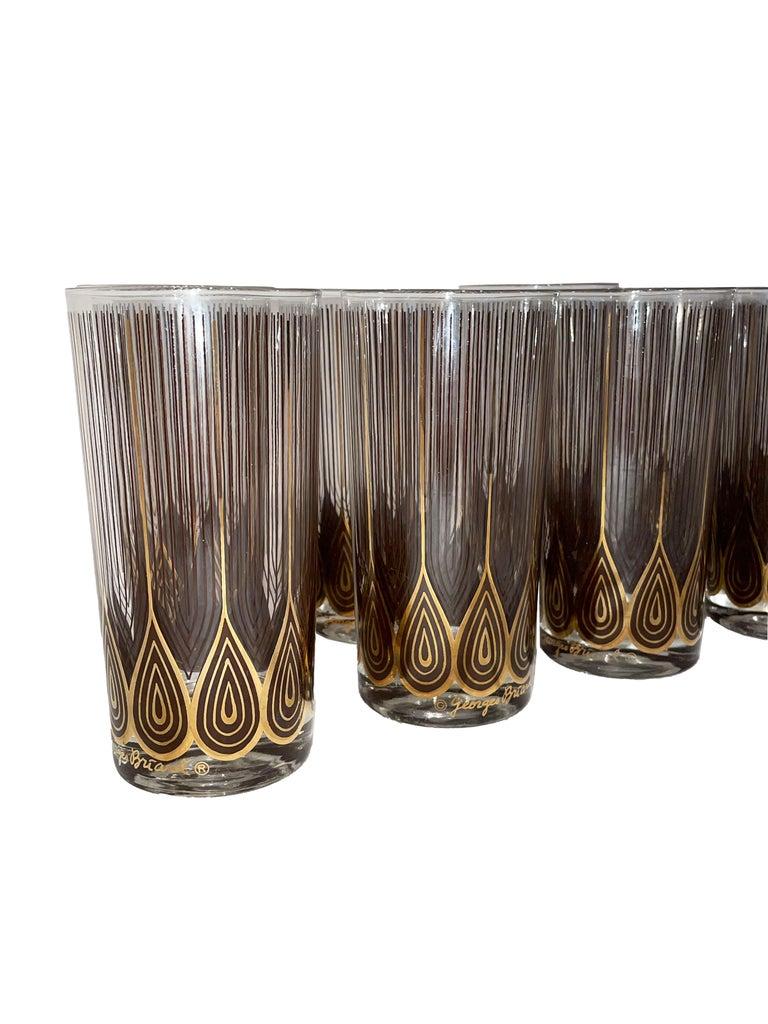 Vintage Set of 12 George Briard Highball Glasses For Sale 4