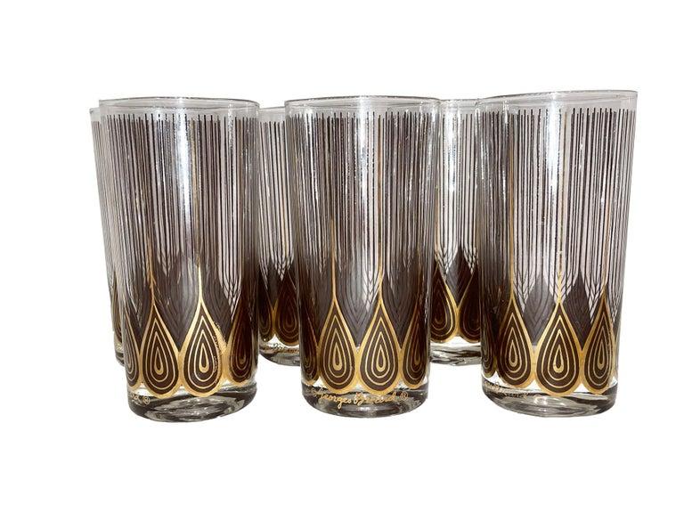 Vintage Set of 12 George Briard Highball Glasses For Sale 5