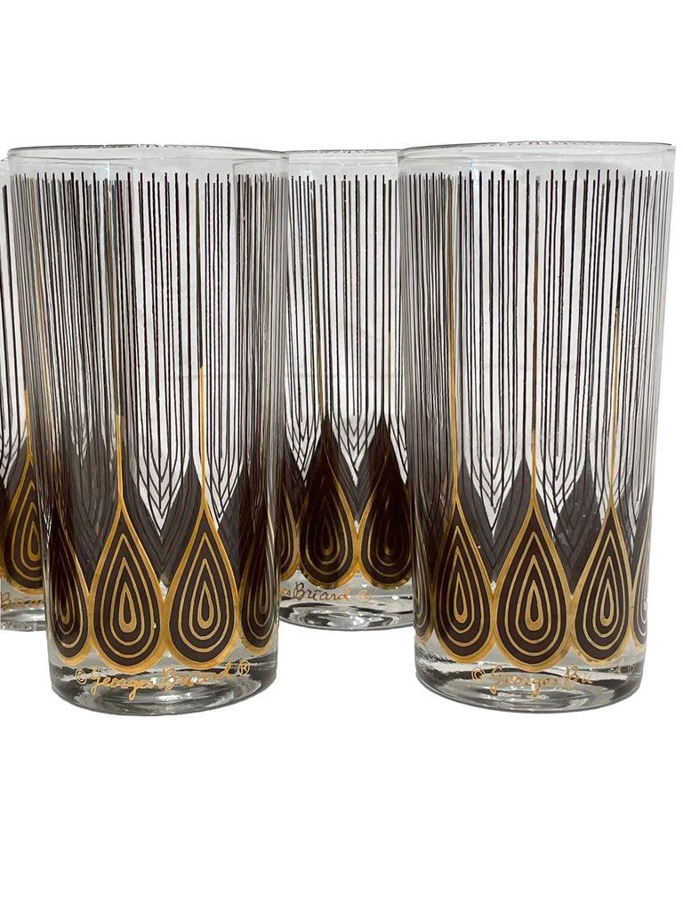 Vintage Set of 12 George Briard Highball Glasses For Sale 7