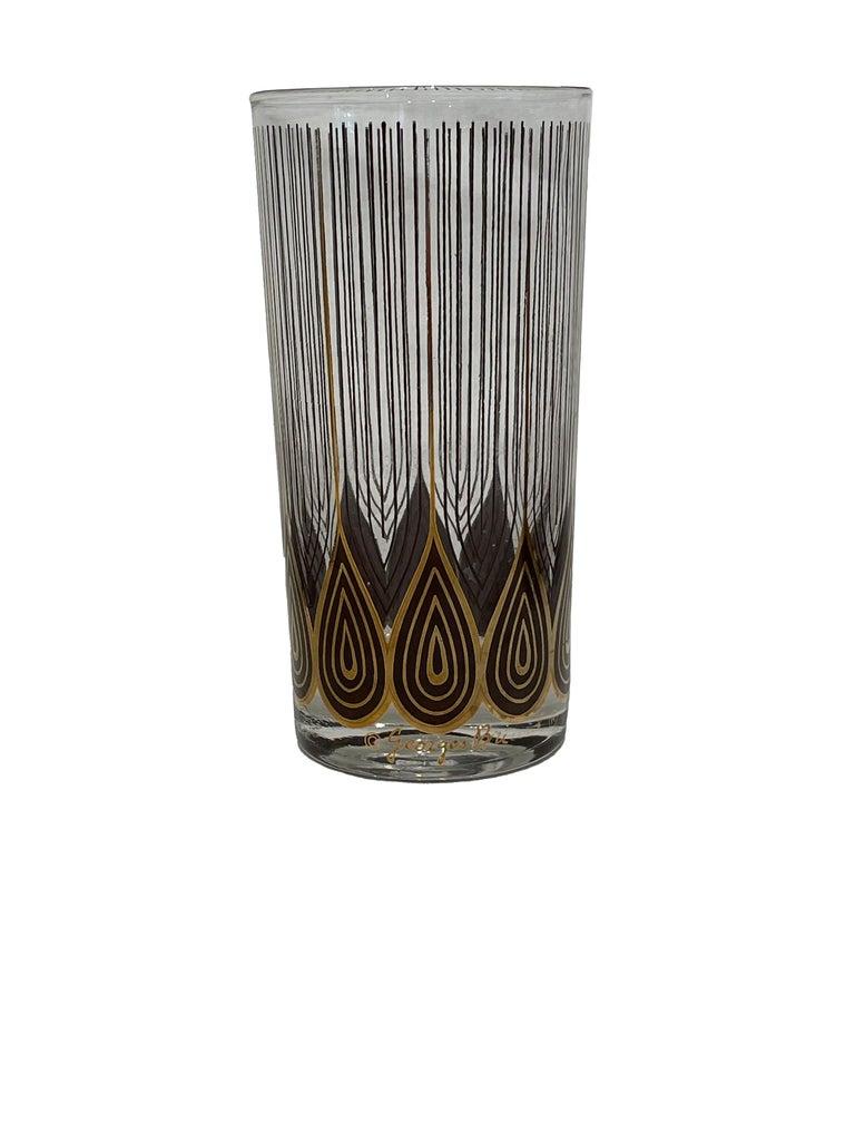 American Vintage Set of 12 George Briard Highball Glasses For Sale