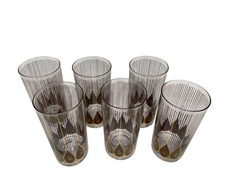 Vintage Set of 12 George Briard Highball Glasses For Sale 1