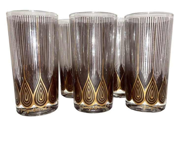 Vintage Set of 12 George Briard Highball Glasses For Sale 2