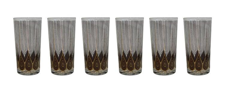Vintage Set of 12 George Briard Highball Glasses For Sale 3