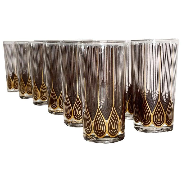 Vintage Set of 12 George Briard Highball Glasses For Sale