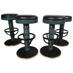 Vintage Set of 4 Swivel Stools