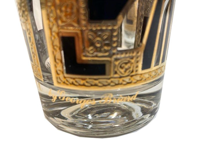 Vintage Set of 8 Georges Briard Highball Glasses in the Art Deco Pattern For Sale 3