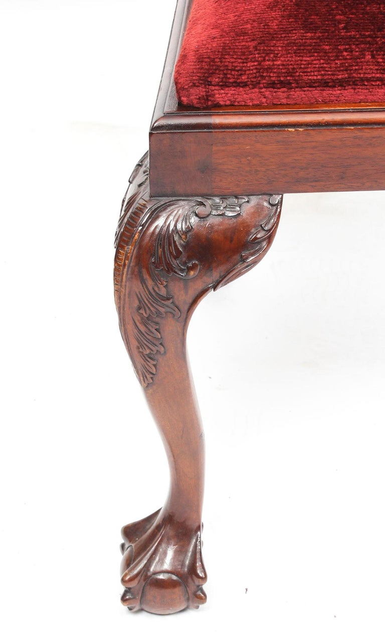 Vintage Set of 8 Mahogany Chippendale Dining Chairs, 20th Century For Sale 2