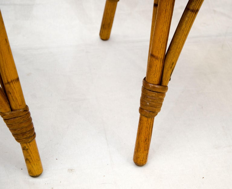 Vintage Set of Five Captains Chairs, Heywood Wakefield