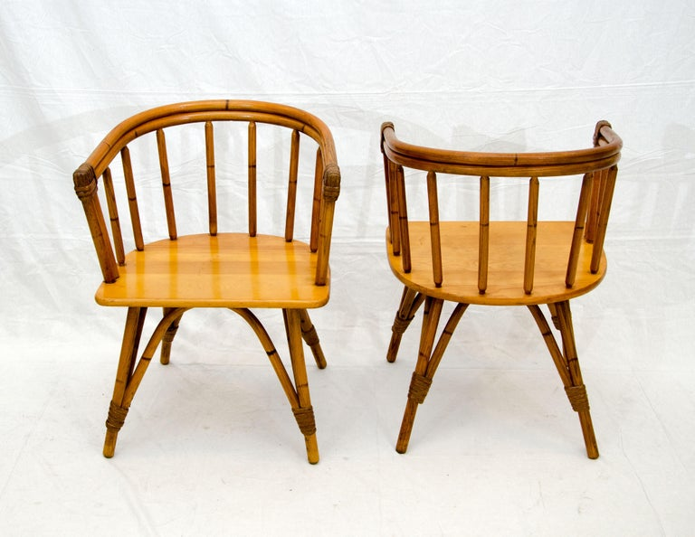 20th Century Vintage Set of Five Captains Chairs, Heywood Wakefield