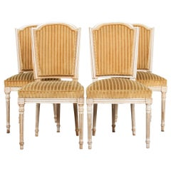 Vintage Set of Four Louis XVI-Style Dining Chairs