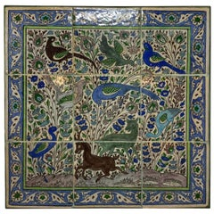 Vintage Set of Persian Tile Wall Hanging