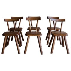 Vintage Set of Six Dining Chairs from France, Circa 1960