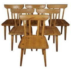 Vintage Set of Six Dining Chairs from Sweden, 1970s
