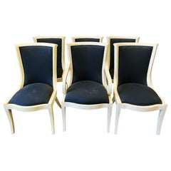 Vintage Set of Six Tessellated Bone Dining Chairs by Enrique Garces, 1970s