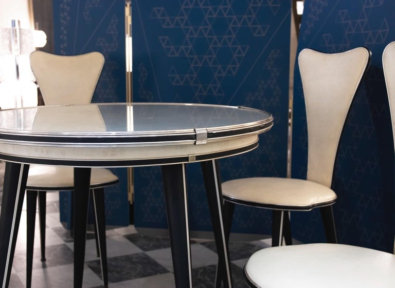 Modern Vintage Set of Table and Chairs by Umberto Mascagni, 1960s For Sale