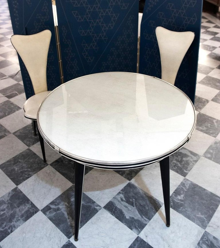 Vintage Set of Table and Chairs by Umberto Mascagni, 1960s In Good Condition For Sale In Roma, IT