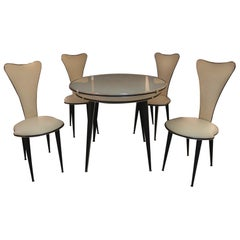 Vintage Set of Table and Chairs by Umberto Mascagni, 1960s