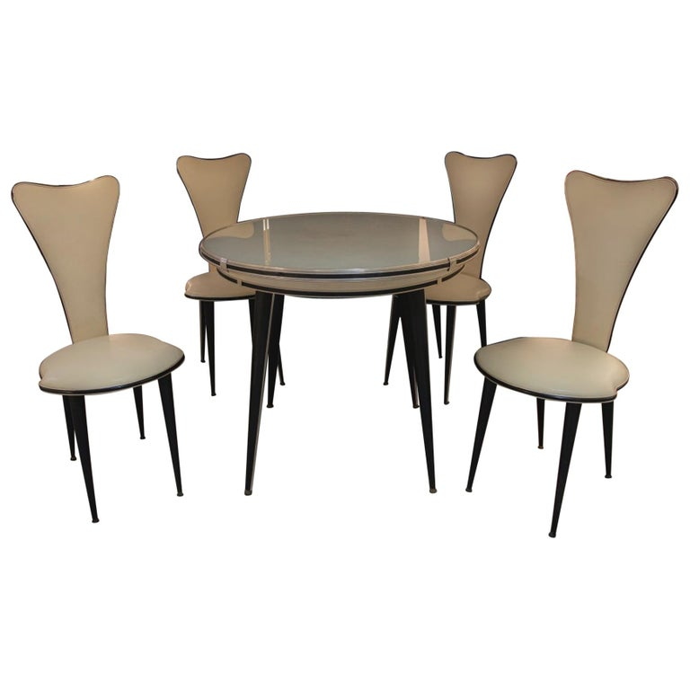 Vintage Set of Table and Chairs by Umberto Mascagni, 1960s For Sale