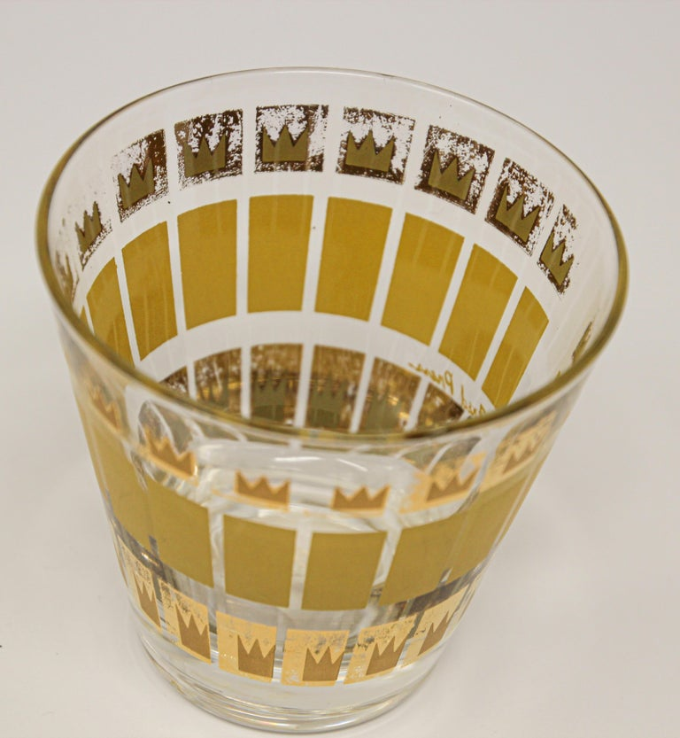 20th Century Vintage Set of Two Gold Glasses by Fred Press For Sale