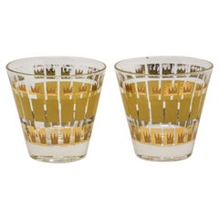 Vintage Set of Two Gold Glasses by Fred Press
