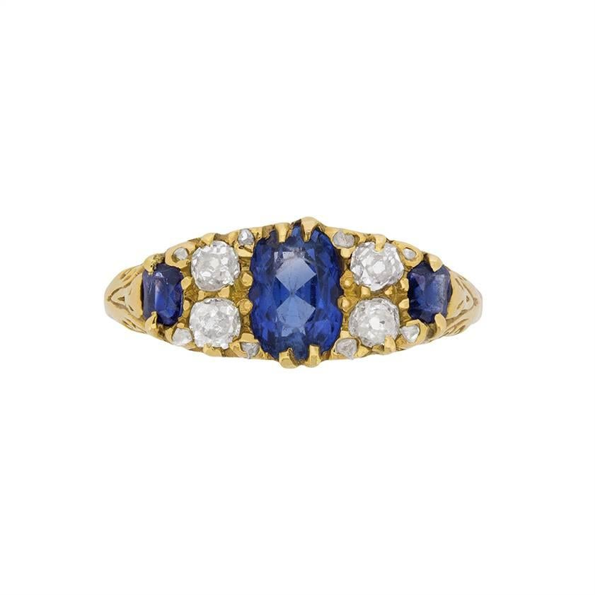 Angara Cathedral Set Solitaire Enhanced Blue Diamond Ring(5.1mm) MAKCU4S