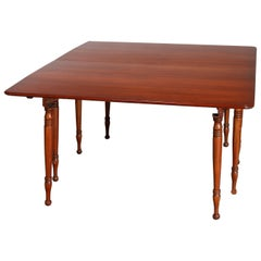 Vintage Sheraton Pennsylvania House Cherry Drop-Leaf Extension Dining Table