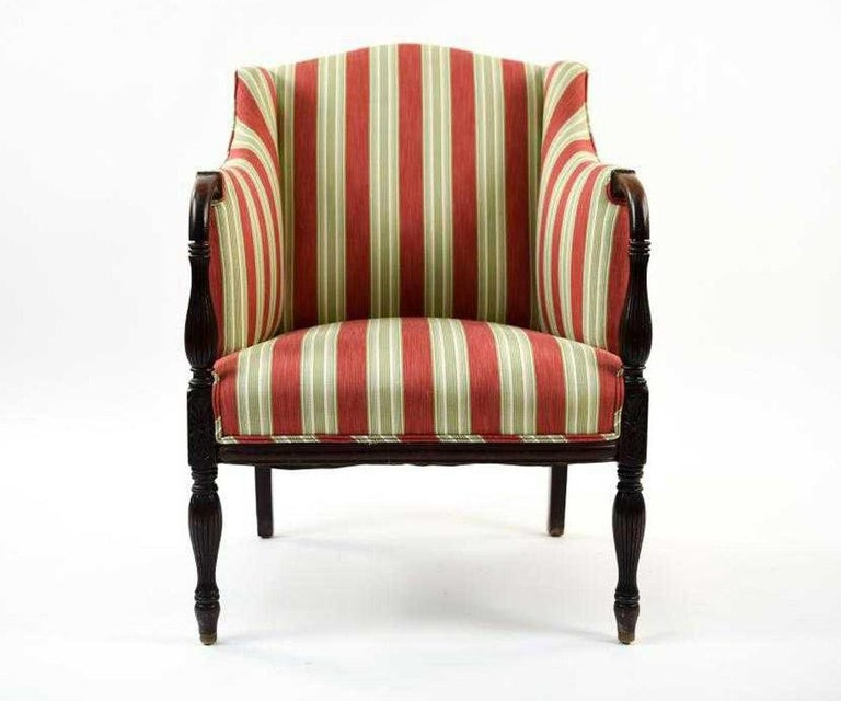 Vintage Sheraton-Style Upholstered Armchair For Sale at ...