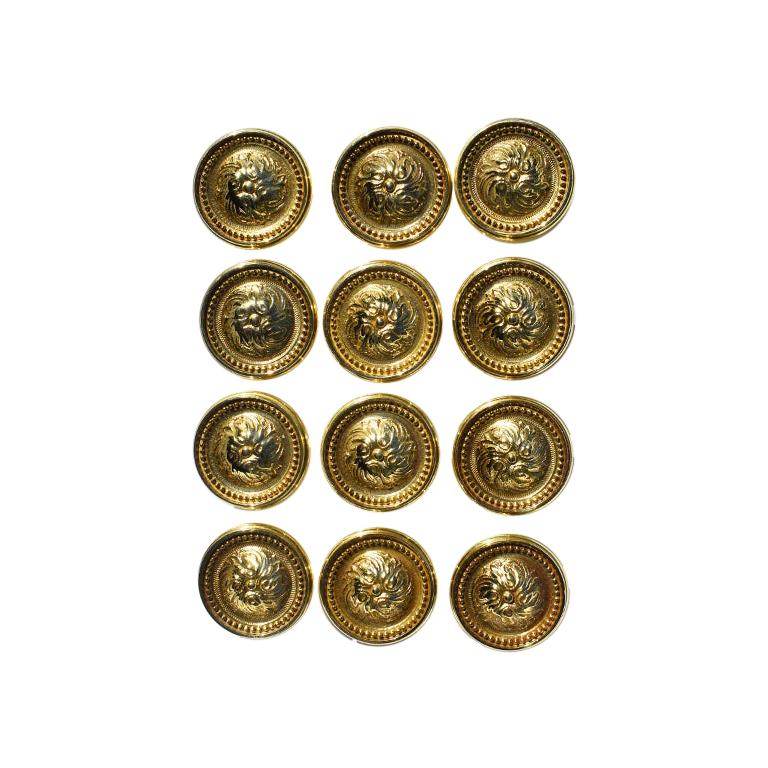 Vintage Sherle Wagner Round Beaded Gold Cabinet Knobs or Drawer Pulls, 1970s