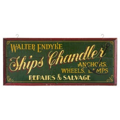 Vintage Shop Sign English Pine, Chandler, Hand Painted, Sign Written, circa 1930
