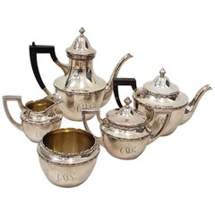 Vintage Shreve & Co. Sterling Silver Coffee and Tea Set