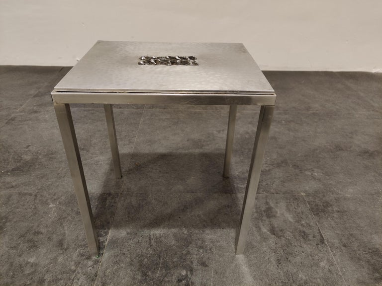 Hand-Crafted Vintage Side Table by Willy Luyckx for Aluclair, 1970s For Sale
